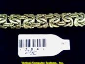 BYZANTINE Gold Byzantine Bracelet 14K Yellow Gold 6.4dwt